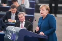 Chancellor Angela Merkel discussed her vision for the future or Europe with MEPs© European Union 2018 - EP